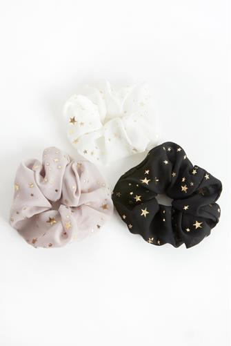 Star Scrunchie Three Pack MULTI