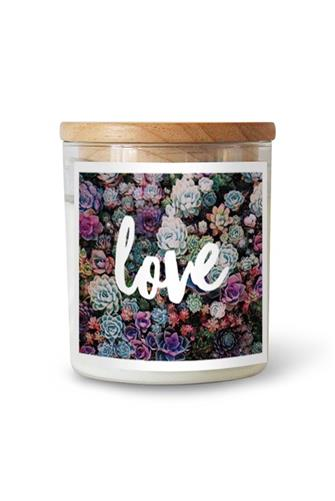 Love Succulent Hudson Valley Candle 21.2 oz. CLEAR