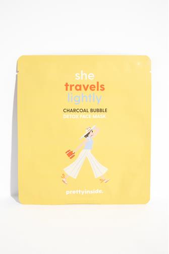 She Travels Lightly Charcoal Face Mask YELLOW