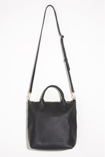 Black Leather Crossbody Bag BLACK