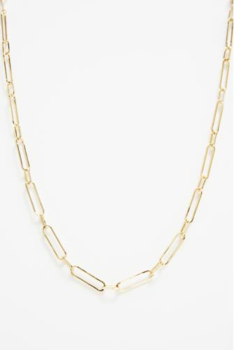 Gold Linear Link Necklace GOLD