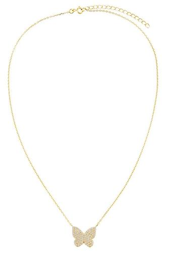 Pave Butterfly Necklace GOLD