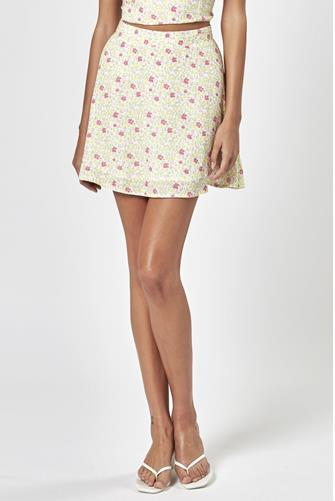 Willow Festival Floral Skirt WHITE MULTI -