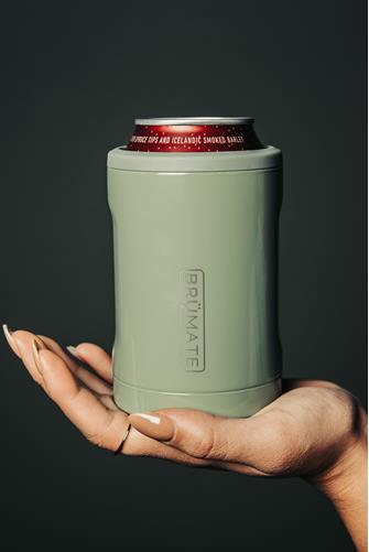 Light Olive Hopsulator Duo Can Cooler OLIVE