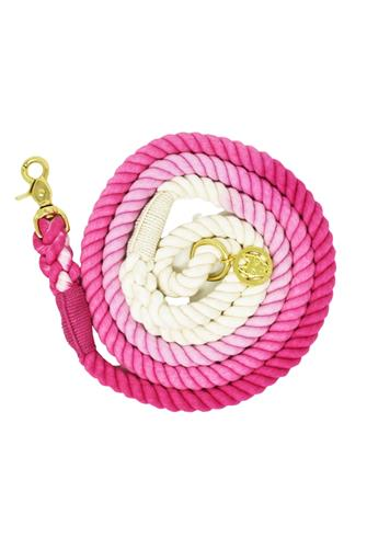 Maggie Ombre 6' Rope Leash PINK