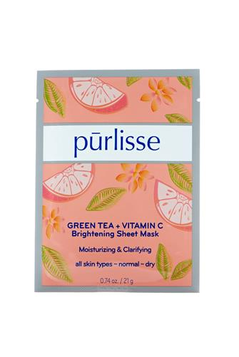 Green Tea + Vitamin C Brightening Sheet Mask PINK