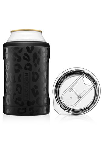 Onyx Leopard Hopsulator Duo Can Cooler BLACK