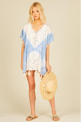 Placement Tie Dye Cover Up BLUE MULTI -