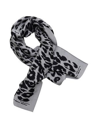 Leopard Wool-Blend Scarf