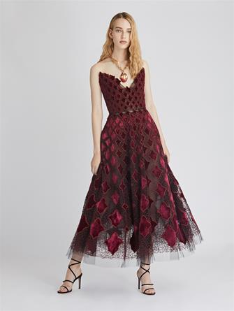 Arabesque Velvet and Tulle Cocktail Dress