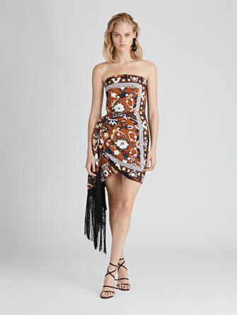 Embroidered Velvet Cocktail Dress