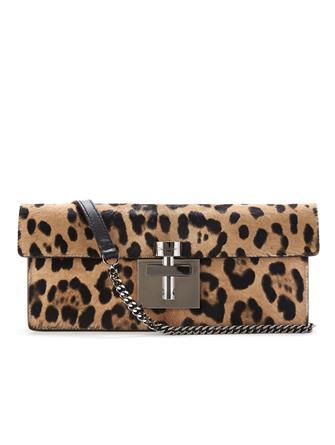 Leopard Calf Hair Alibi Clutch