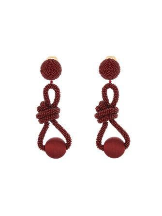 Beaded Knot Earrings