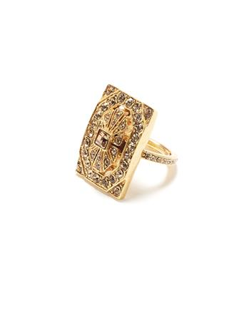 Crystal Square Ring