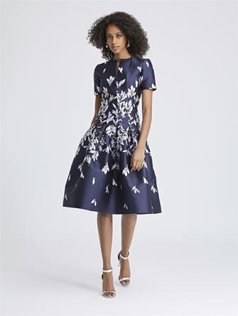 Leaves and Berries Jacquard Dress
