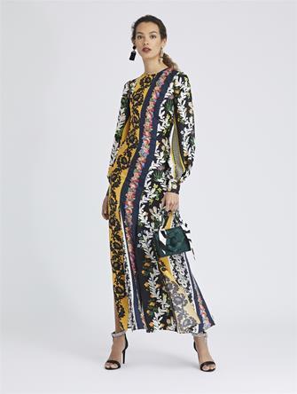 Vintage Patchwork King Silk-Twill Dress