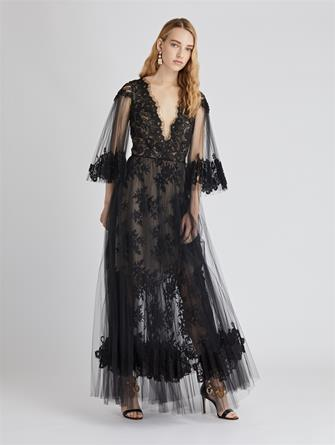 Lace and Tulle Cocktail Dress