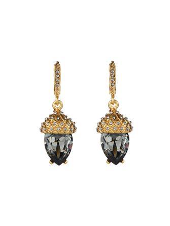 Pavé Acorn Drop Earrings