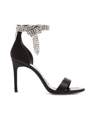 Crystal and Satin Sandal