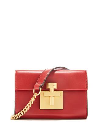 Cranberry Leather Alibi Belt Bag