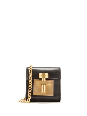 Black Leather Micro Alibi Bag