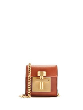 Cognac Leather Micro Alibi Bag