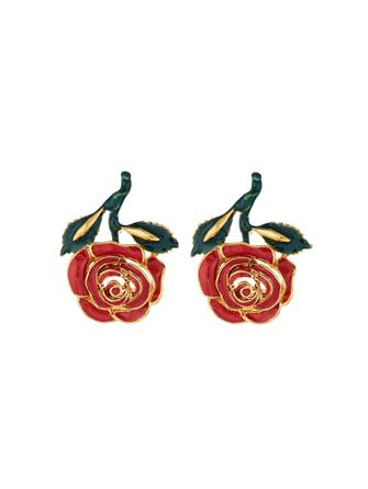 Petite Rose Resin Earrings