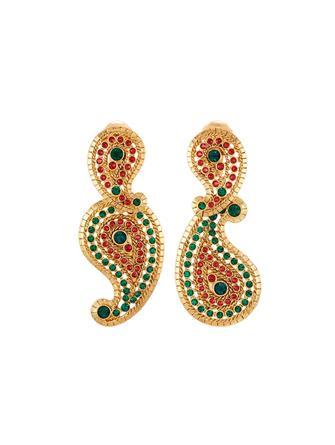 Pavé Paisley Earrings