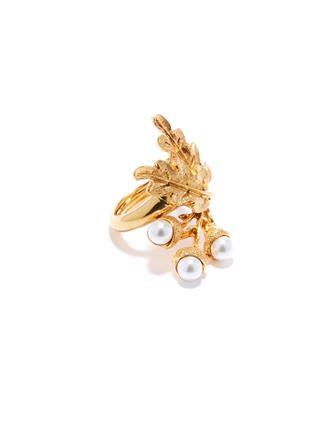 Acorn and Leaf Ring