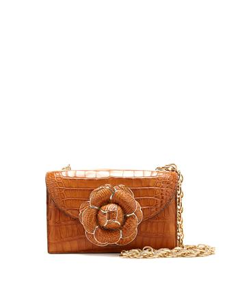 COGNAC ALLIGATOR TRO BAG