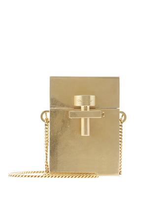 Gold Metal Mini Alibi Bag