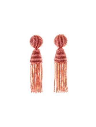 Hibiscus Short Tassel Earrings