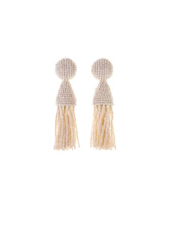 IVORY CLASSIC SHORT TASSEL EARRINGS