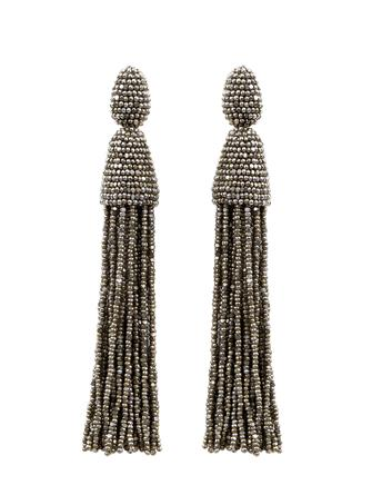 CHAMPAGNE CLASSIC LONG TASSEL EARRINGS