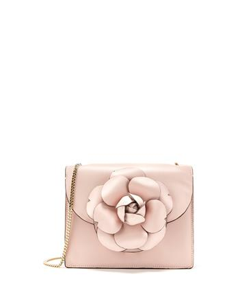 BLUSH LEATHER MINI TRO BAG