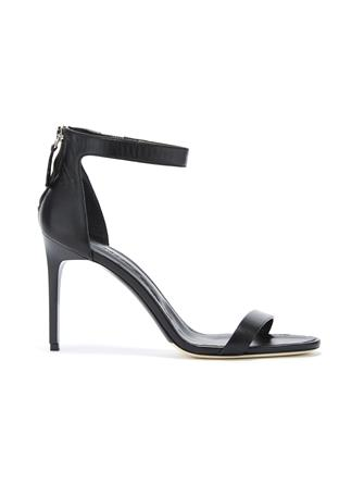 Black Leather Ange Sandals