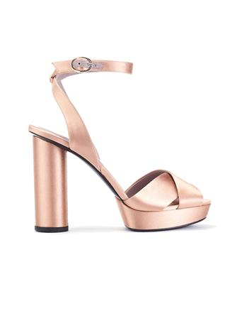 SATIN DASHA PLATFORM SANDALS