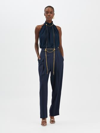 Chain-Embroidered Pants