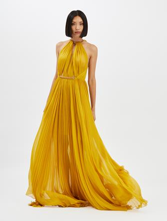 Chain-Detailed Gown