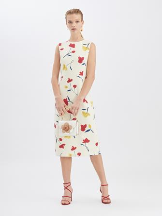 Watercolor Poppies Dress