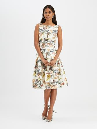 Floral Fil Coupé Dress