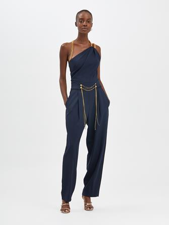 Chain-Embroidered Jumpsuit
