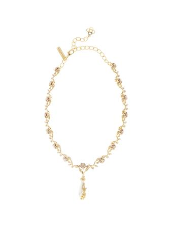 Jeweled Pearl Necklace