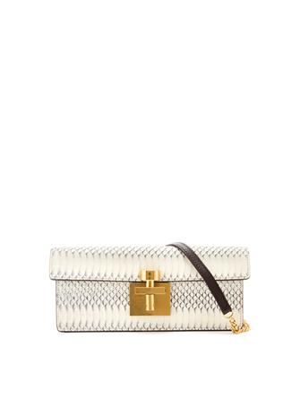 White Alibi Clutch