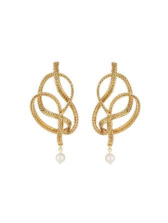 Braided Chain Earrings