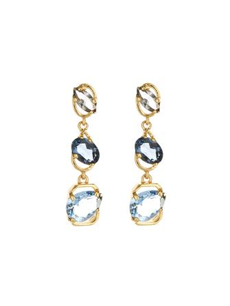 Crystal Offset Earrings