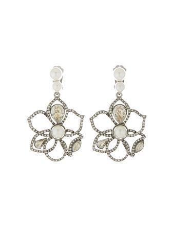Pavé Petal Earrings