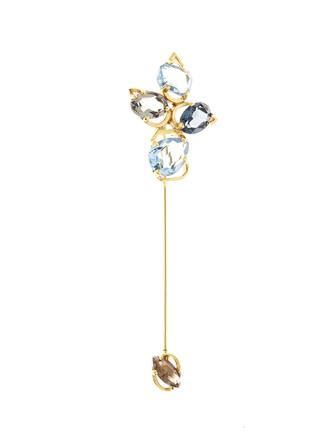 Crystal Offset Brooch