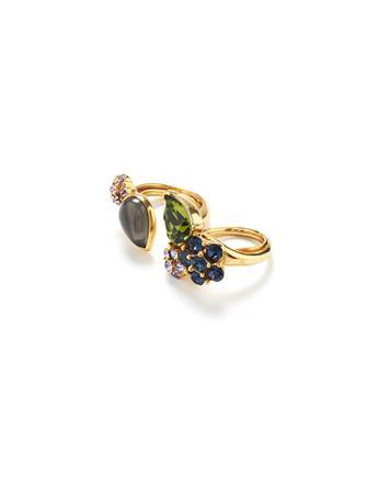 Crystal and Cabochon Ring