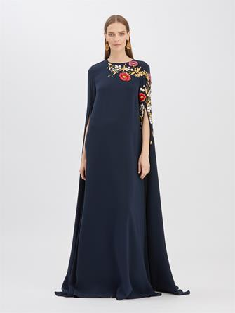 Embroidered Cape Caftan